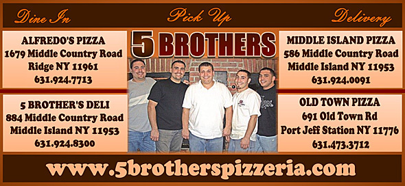 Long Island Pizza Magazine 5 Brothers Pizzeria Alfredos Pizza Boccone Pizzeria Old Town Pizza Middle Island Pizza